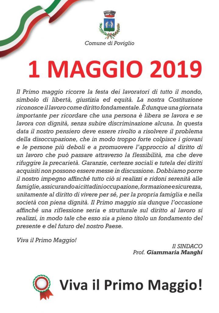 Manifesto Primo Maggio 2019 Poviglio